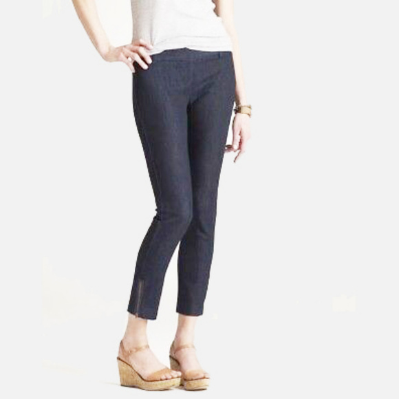 J.Crew City Fit Cropped Zipper Ankle Jeans